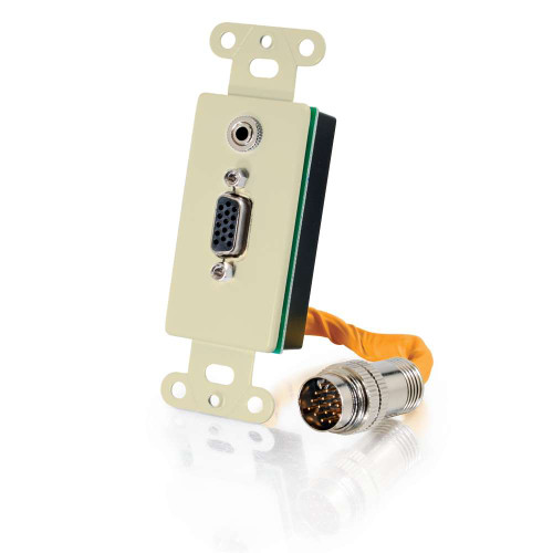 RapidRun VGA (HD15) + 3.5mm Wall Plate - Ivory