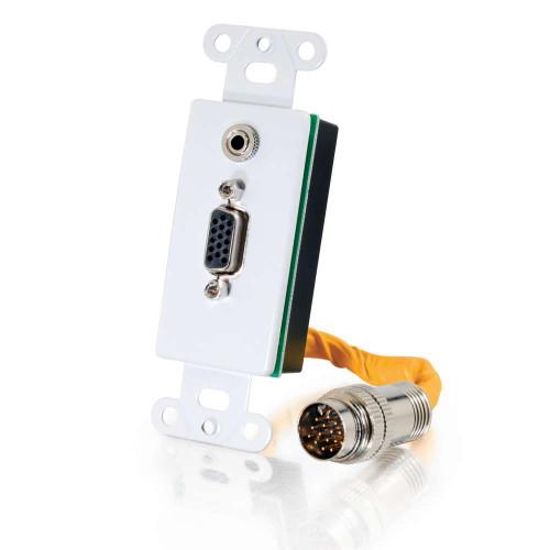 RapidRun VGA (HD15) + 3.5mm Wall Plate - White
