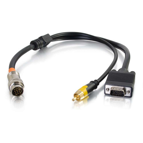 1.5ft RapidRun VGA(HD15) and Composite Video Flying Lead