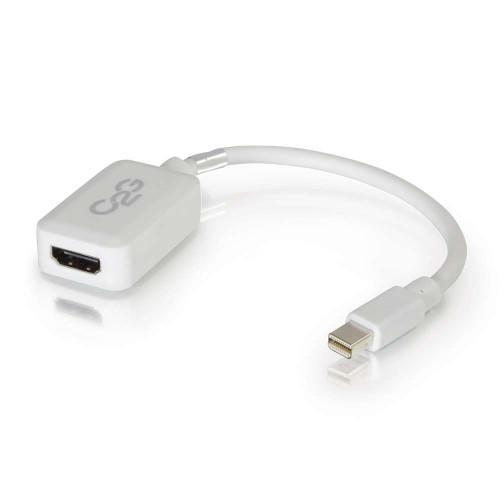 8in Mini DisplayPort Male to HDMI Female Adapter Converter - White (TAA Compliant)