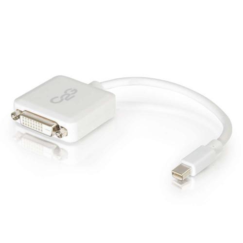 8in Mini DisplayPort Male to Single Link DVI-D Female Adapter Converter - White (TAA Compliant)