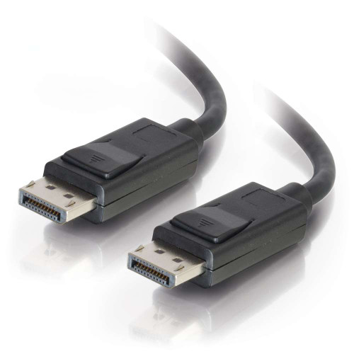 25ft DisplayPort Cable with Latches M/M - Black