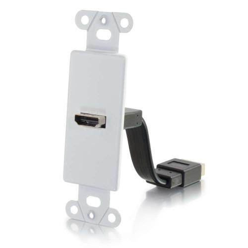 HDMI Pass Through Decorative Wall Plate - White