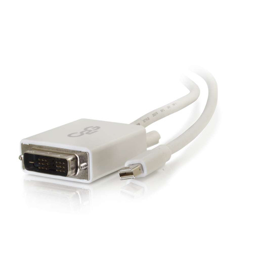 3ft Mini DisplayPort Male to Single Link DVI-D Male Adapter Cable - White (TAA Compliant)