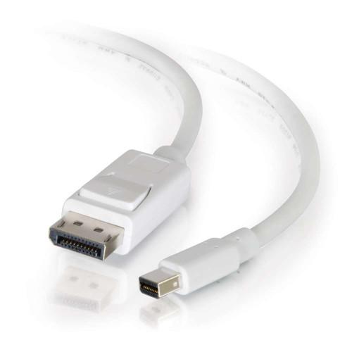 6ft Mini DisplayPort to DisplayPort Adapter Cable M/M - White