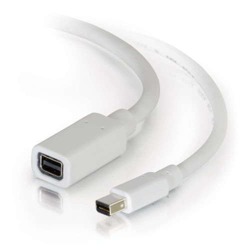 6ft Mini DisplayPort Extension Cable M/F - White