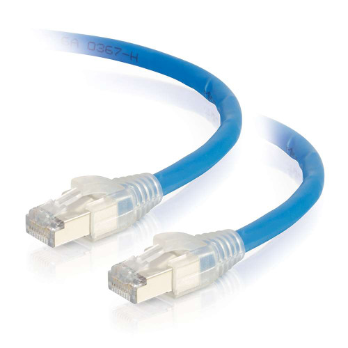 50ft HDBaseT Certified Cat6a Cable with Discontinuous Shielding -  Plenum CMP-Rated - Blue