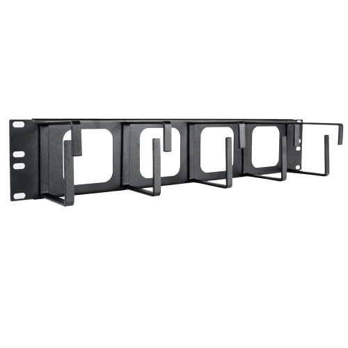 2U Cable Management - 5 Vertical Rings - 4 Cut-Outs