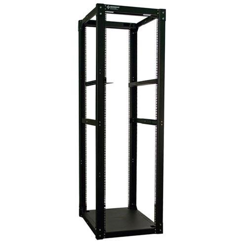 24u 4 Post Server Rack w/ Angle Brackets