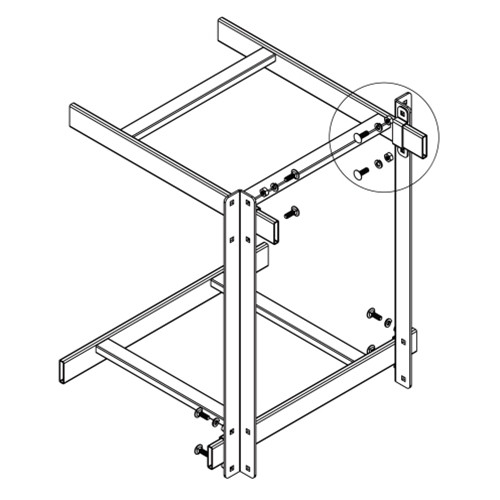 Pair of 12in Stand-Off Support Kit for Cable Runway