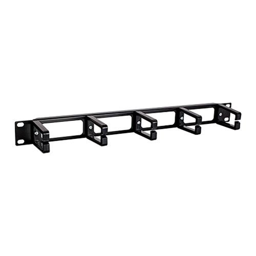 1U Horizontal D-Ring Plastic Cable Manager RAMP5D1
