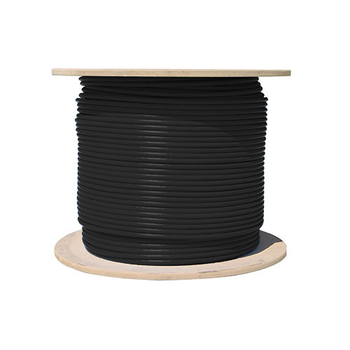 1000ft Cat6 23AWG 550MHz 8C Solid Cables Black