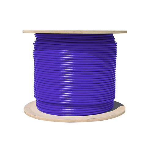 Vertical Cable 1000ft Cat6 23AWG 550MHz 8C Solid Cables Purple