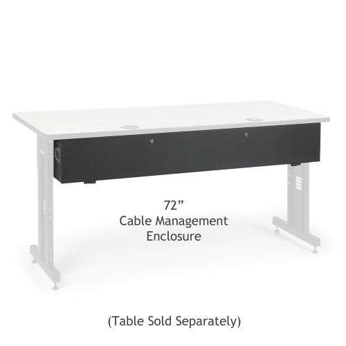 "Kendall Howard 5500-3-100-72 LAN Rack 72"" Table Cable Enclosure"