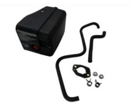 Air Filter Kit Assembly (includes air filter, labels, breather pipe, exhaust pipe with 2 clips, and 2 nuts) - 140cc, 173cc