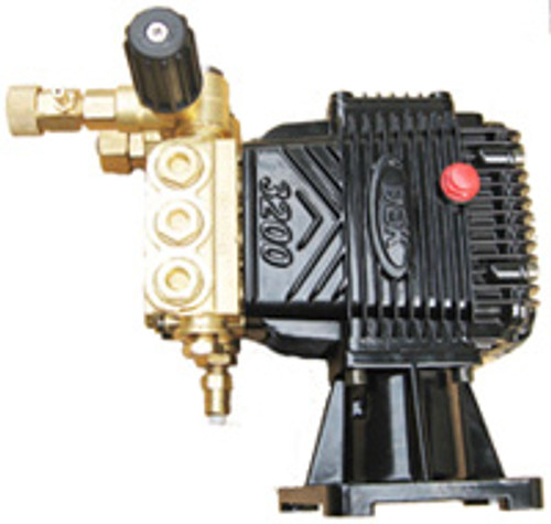 2700 PSI pump asm, including housing with DEK logo, pump head, pressure adjustment valve, thermal valve, and black vented plug. No oil included.