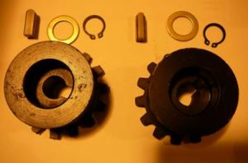 Scalping wheel hardware kit, set of 2 bolts, washers and