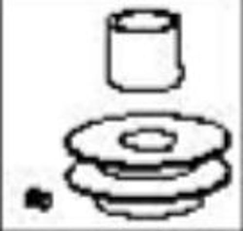 Pulley, engine, hydros, V belt - Mower: 36BB