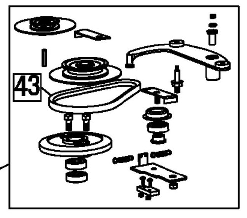 """Blade Brake Clutch (BBC) assembly parts (includes clutch, belt, pulley, brake, spring, and hardware) - 26"""" WAM"""