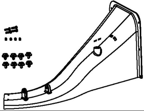 """Main discharge chute and hardware - 26"""" WAM"""