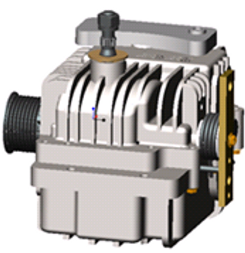 Spare part left hydro configured with a 10 rib output pulley and no input pulley, 2800 RPM