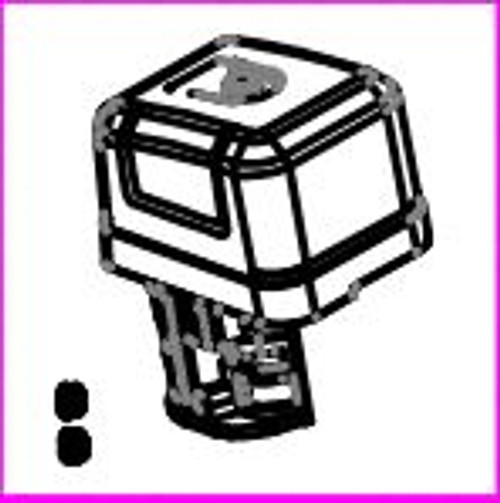 Air Filter Assembly - 445cc (includes filter cover, filter media, housing, and bolts) - Chippers: CH10, CH11