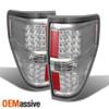 Fit 2009-2014 Ford F150 Pickup Truck LED Turn Signal Chrome Brake Tail Lights