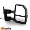 Manual Towing Mirrors Pair For 99-07 F250/350/450 Superduty Red Smoke LED Signal