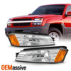 For 02-06 Chevy Avalanche 1500/2500 [Body Cladding] Chrome Bumper Signal Lights