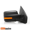 For 2007-2014 F150 Power Heated Towing Mirror [Amber Sequential LED Signal] Pair