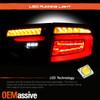 For 08-14 Subaru Impreza WRX Hatchback LED Black Tail Lights Sequential Signal