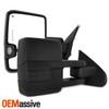 2x [Power Folding] Heat LED Turn Smoke Towing Mirrors For 14-18 Silverado Sierra
