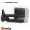 Pair Power Heat [Sequential Turn] Black Towing Mirror For 03-06 Silverado Sierra