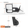 Pair Power Heat [Sequential Turn] Black Towing Mirror For 07-13 Silverado Sierra