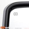 2x [Power Folding] Heat LED Turn Black Towing Mirror For 14-18 Silverado Sierra