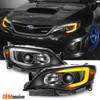 Fit 2008-2014 Impreza WRX LED DRL SWITCHBACK Signal Black Projector Headlights