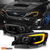 Fit 2008-2014 Impreza WRX LED DRL SWITCHBACK Black Smoke Projector Headlights