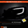 Fit 2008-2014 Impreza WRX LED DRL SWITCHBACK Black Smoke Projector Headlights