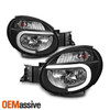 Fits 2002-2003 Subaru Impreza Outback RS TS WRX DRL LED Strip Black Headlights