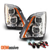 For 2008-2014 Cadillac CTS Dual Projector Switchback LED Headlights + 6000K HID