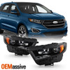 For 2015-2018 Ford Edge Sport HID Model Projector Headlights OE Black Housing