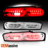 For 16-18 Chevy Camaro Halogen Incandescent Chrome Tail Lights w/LED Sequential