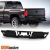For 14-18 Chevy Silverado / GMC Sierra Rear Steel Bumper w/o Sensor Hole - Black