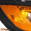 Fits 07-11 Santa Fe Black Bezel Headlights Headlamps Replacement + Slim 8K HID