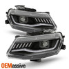 For 2016-2020 Camaro HID/Xenon LED Projector Black Headlight w/Sequential Signal
