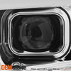 For 2015-2017 F150 Halogen Projector Chrome Headlamp Tube Parking w/LED Low Beam