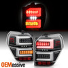 For 10-20 Toyota 4Runner LED Tube Running Black Tail Lights w/ Sequential Signal