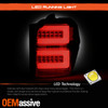For 10-20 Toyota 4Runner LED Tube Running Smoke Tail Lights w/ Sequential Signal