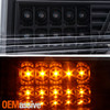 For 13-14 F150 HID Projector Black Headlamp w/LED Tube Running+Sequentail Signal