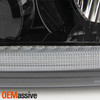 Fit 2004-2008 Ford F-150 Switch Back LED w/DRL Headlights Pair Housing - Black